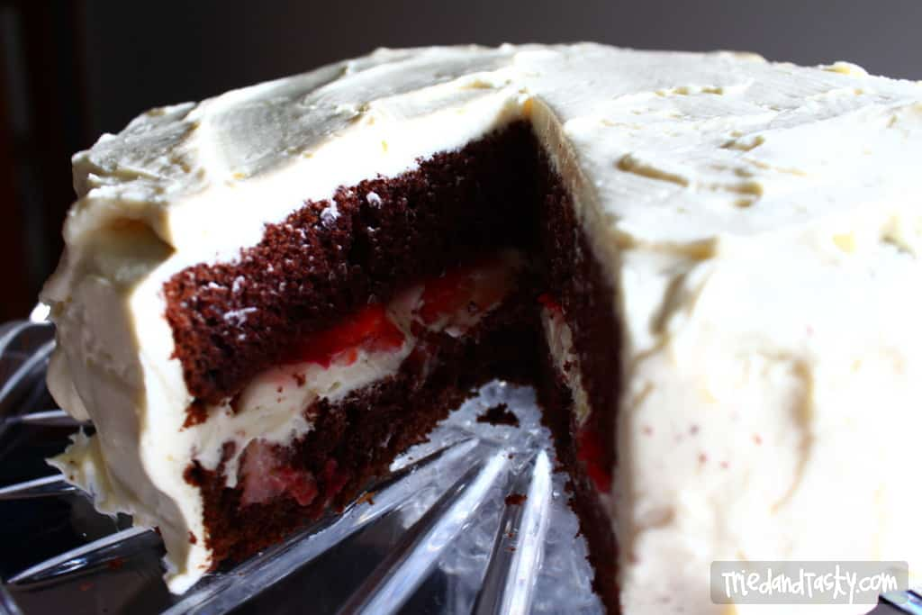 Clementine Chocolate Cake w/Vanilla Pudding Frosting // Tried and Tasty