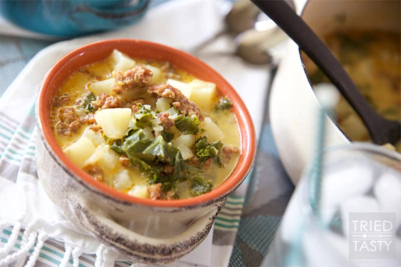 Copycat Olive Garden S Zuppa Toscana Soup Tried And Tasty