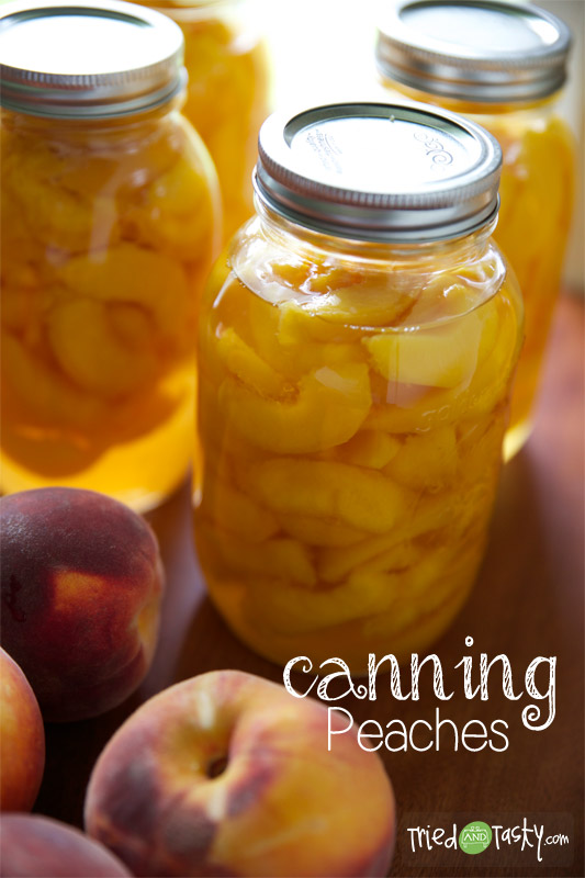 Canning Peaches // TriedandTasty