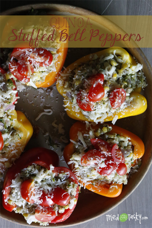 Quinoa Stuffed Peppers // TriedandTasty