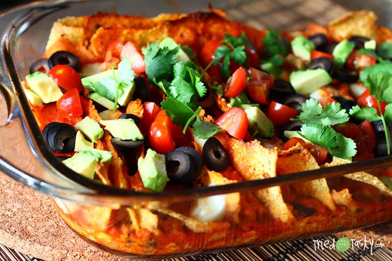 Sweet Potato & Black Bean Enchiladas // Tried and Tasty