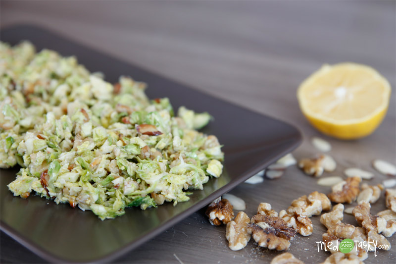 Chopped Brussels Sprouts Salad // Tried and Tasty