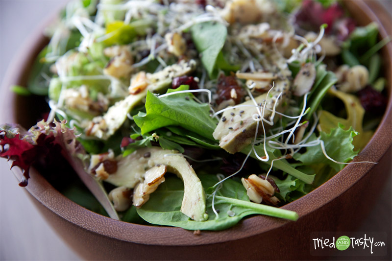 Cranberry Avocado Salad with a Sweet White Balsamic Vinaigrette // Tried and Tasty