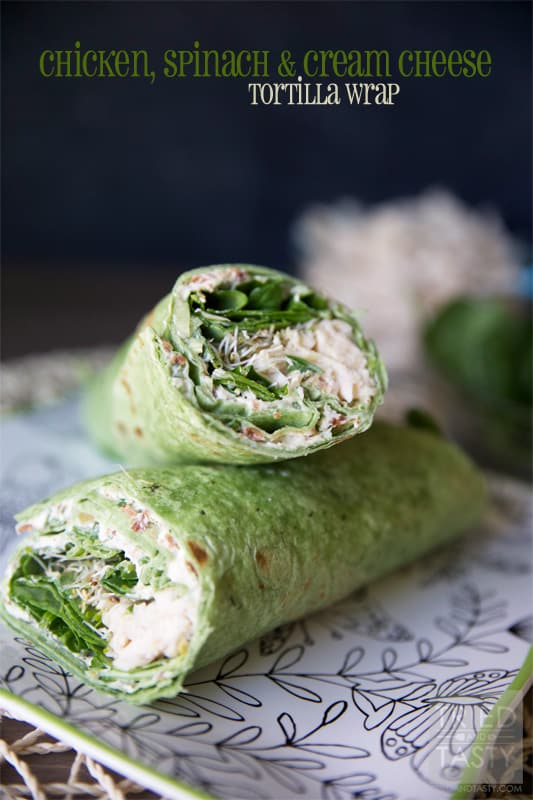Chicken, Spinach & Cream Cheese Tortilla Wrap // Tried and Tasty