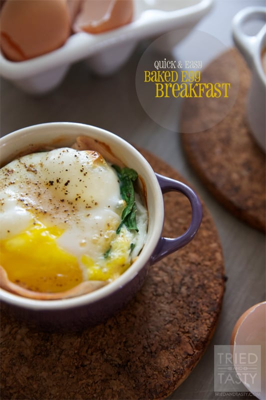 Quick & Easy Baked Egg Breakfast // Tried and Tasty