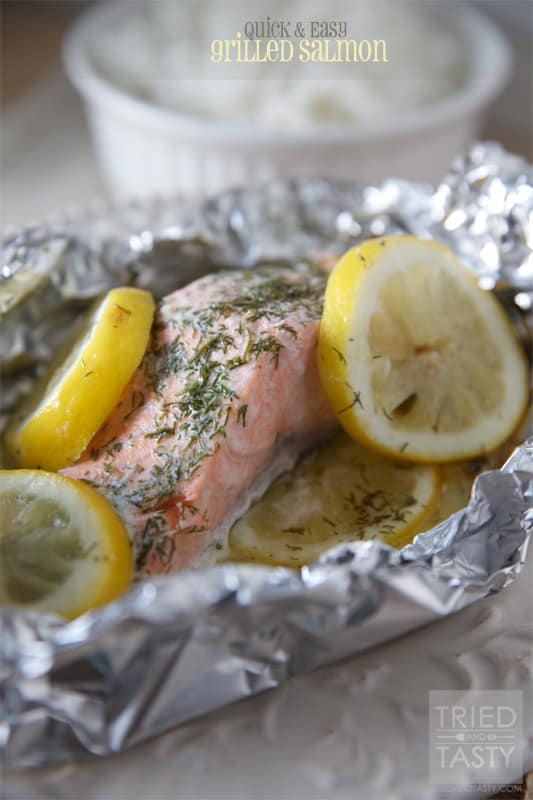 Quick & Easy Grilled Salmon // Tried and Tasty