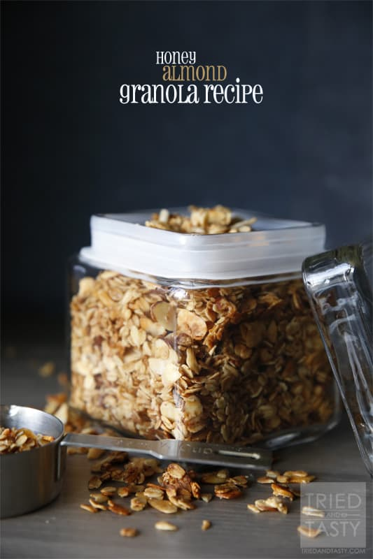 Honey Almond Granola Recipe // Tried and Tasty