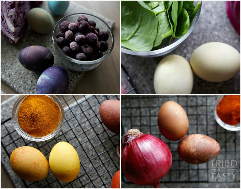 Natural Easter Egg Dye Recipes // Tried and Tasty