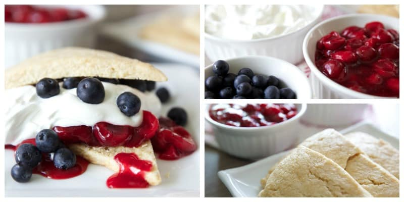 Red, White & Blue Cherry Blueberry Shortcakes // Tried and Tasty