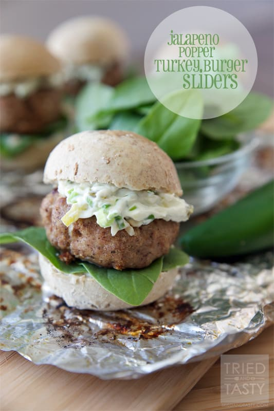 Jalapeno Popper Tturkey Burger Sliders // Tried and Tasty