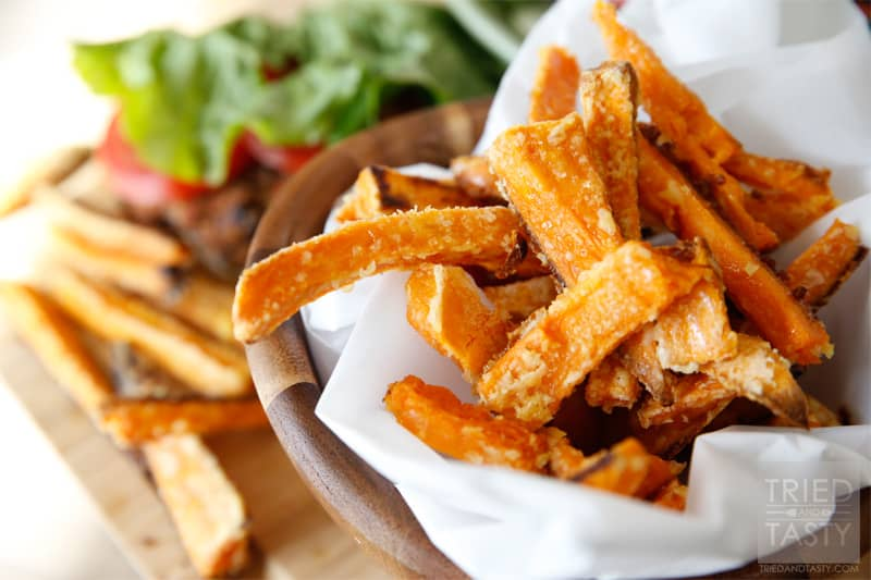 Oven-Baked Crispy Sweet Potato Fries - Tried and Tasty