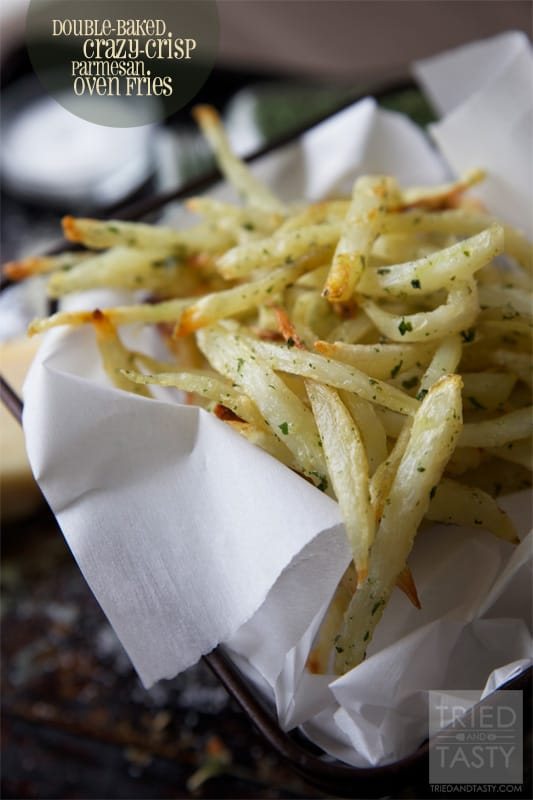 Double-Baked Crazy-Crisp Parmesan Oven Fries // Tried and Tasty
