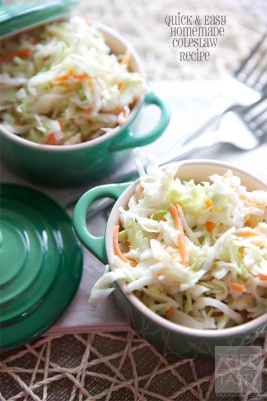 Quick & Easy Homemade Coleslaw Recipe // Tried and Tasty