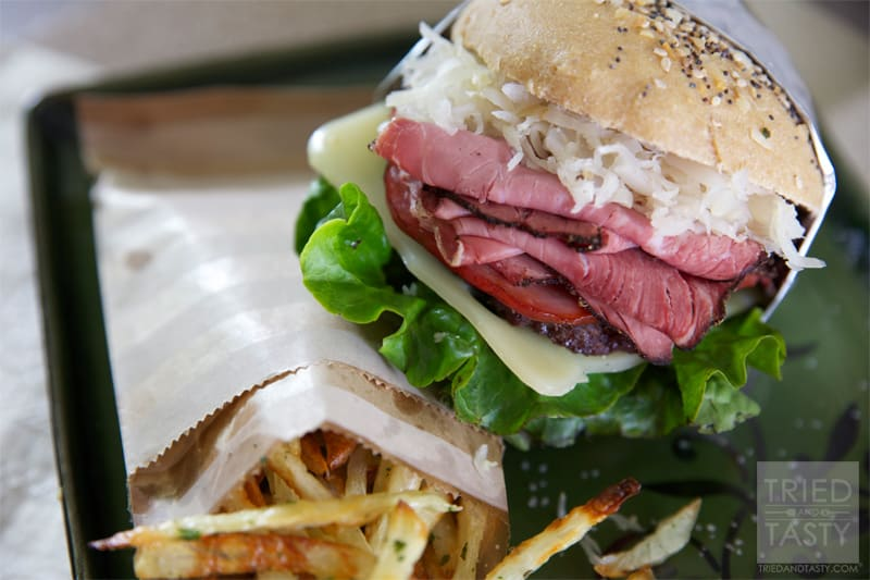 Mouth Watering Tasty Reuben Burger // Tried and Tasty