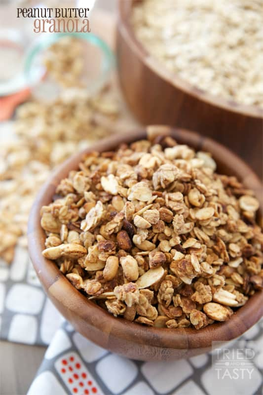 Peanut Butter Granola // Tried and Tasty