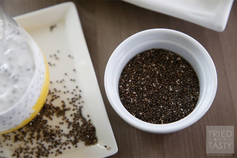 Fruit-On-The-Bottom Chia Seed Pudding // The perfect healthy snack that will not only leave you satisfied, but also provide many healthy nutrients from the coconut and chia seeds. It's delicious! | Tried and Tasty