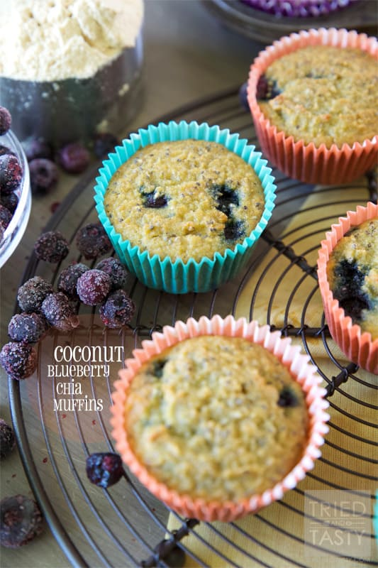 Coconut Blueberry Chia Muffins // Tried and Tasty