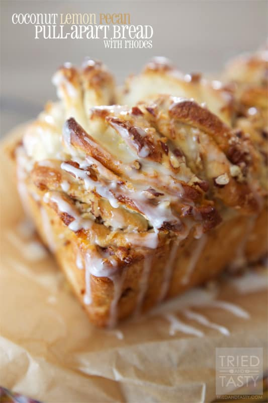 Coconut Lemon Pecan Pull-Apart Bread // Tried and Tasty