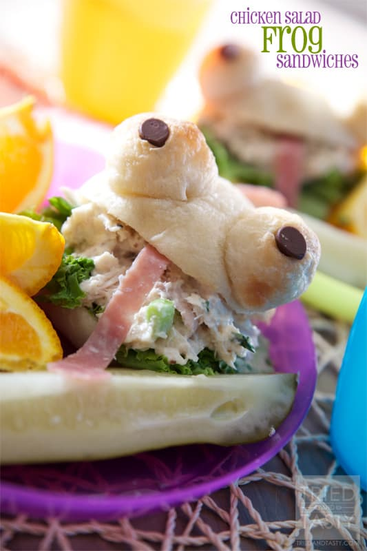 Chicken Salad Frog Sandwiches // Tried and Tasty