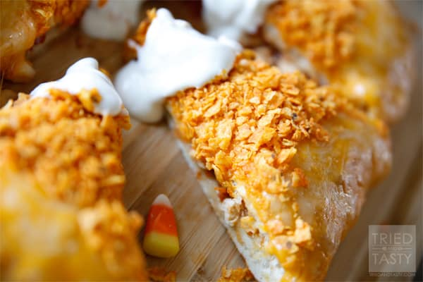 Stuffed Candy Corn Pizza // Tried and Tasty