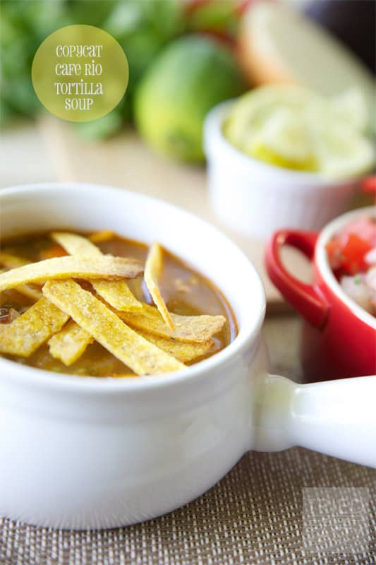 Copycat Cafe Rio Tortilla Soup // Tried and Tasty