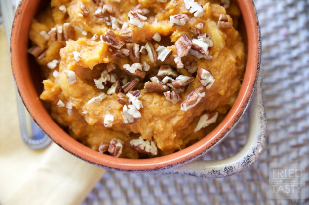 Honey-Sweetened Apple & Sweet Potato Mash // Tried and Tasty