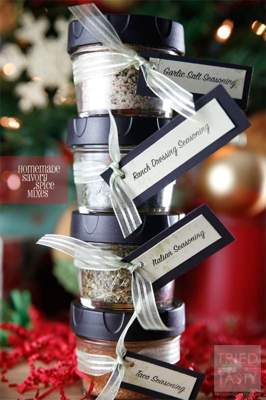 Homemade Savory Spice Mixes // If you've run out of our favorite spice mixes, have no fear - you can make them at home! | Tried and Tasty