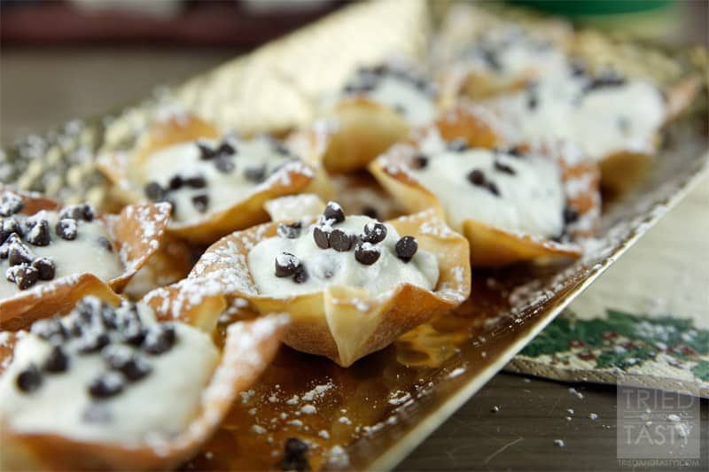 Mini Cannoli Cups // Tried and Tasty
