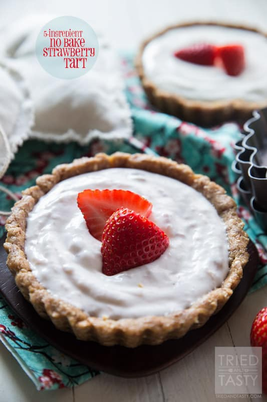 5-ingredient No Bake Strawberry Tart // Tried and Tasty