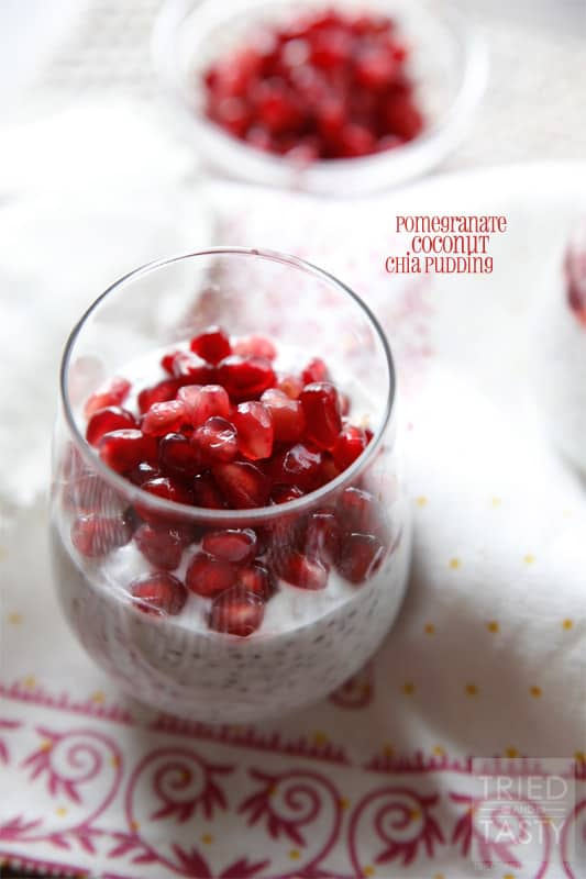 Pomegranate Coconut Chia Pudding // Tried and Tasty