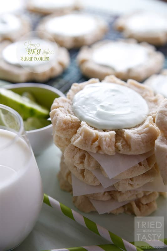 Lime 'Swig' Sugar Cookies // Tried and Tasty for Lolly Jane