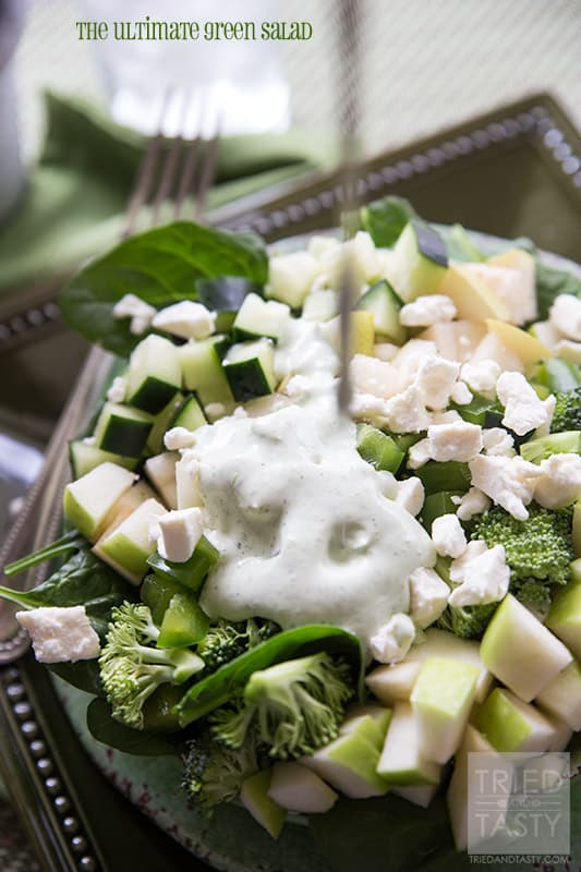 The Ultimate Green Salad // Tried and Tasty
