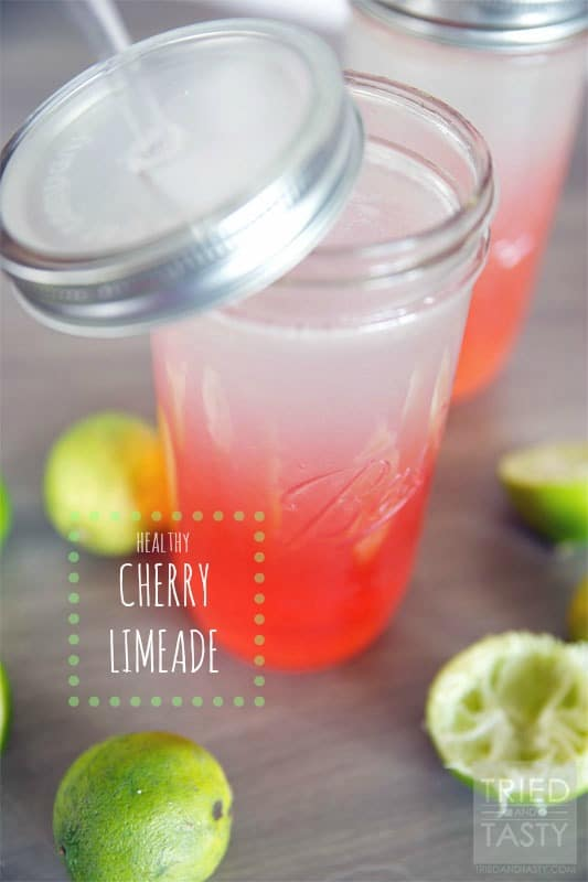 Healthy Cherry Limeade // Tried and Tasty