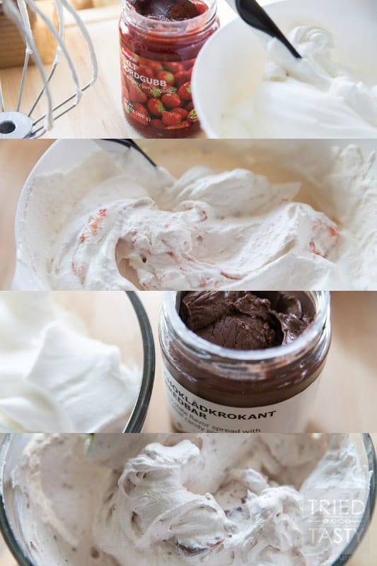 No Bake Chocolate Strawberry Icebox Cake | If you love chocolate covered strawberries, you will love this fun new twist! This cool and refreshing dessert is not only tasty, but perfect for a potluck or party! Serves a crowd & leaves guests wanting more! | Tried and Tasty