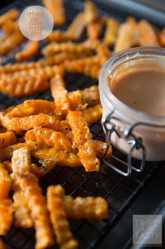 Crinkle Cut Sweet Potato Fries // Tried and Tasty