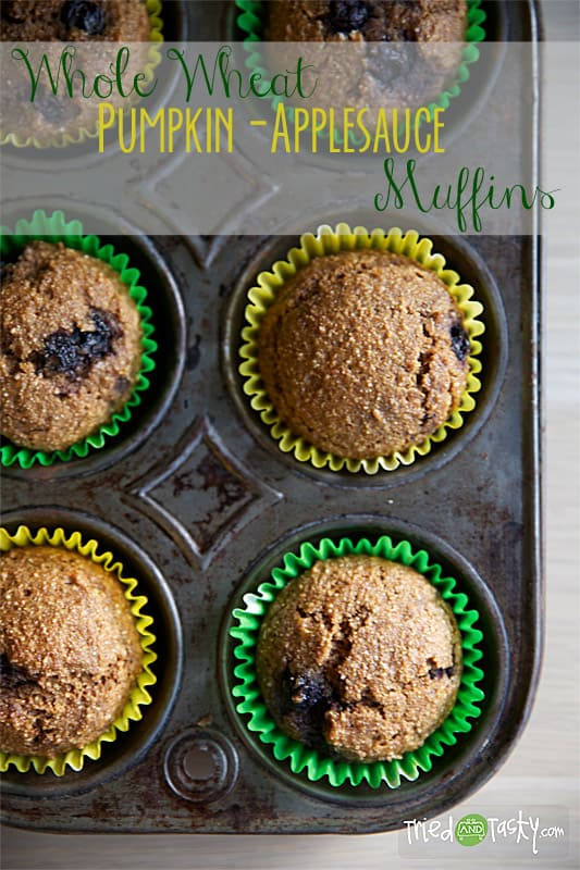 Whole Wheat Pumpkin-Applesauce Muffins // Tried and Tasty