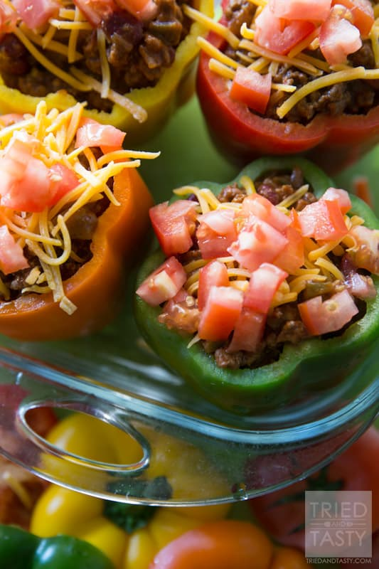 Taco Stuffed Peppers // Tried and Tasty