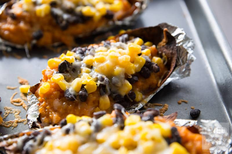 Southwestern Sweet Potato Skins // Looking for a delicious ...