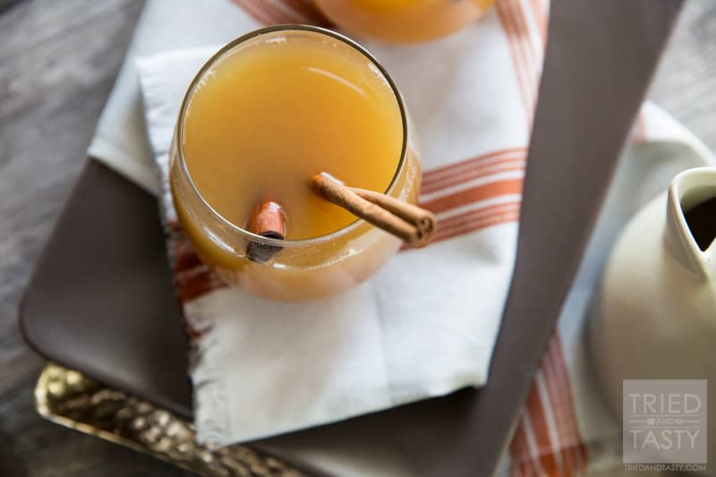 Healthy Citrus Wassail // Warm up with this cozy citrus drink this winter. Non-alcoholic makes it great for the whole family to enjoy. Made without any refined-sugar it's the perfect alternative to the typical sugar loaded drinks!   Tried and Tasty