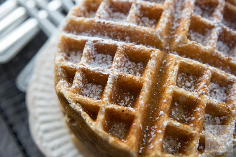 Whole Wheat Greek Yogurt Waffles // Start your morning with a healthy and nutritious breakfast. Made with wholesome ingredients these waffles are a delicious addition to your mornings. | Tried and Tasty