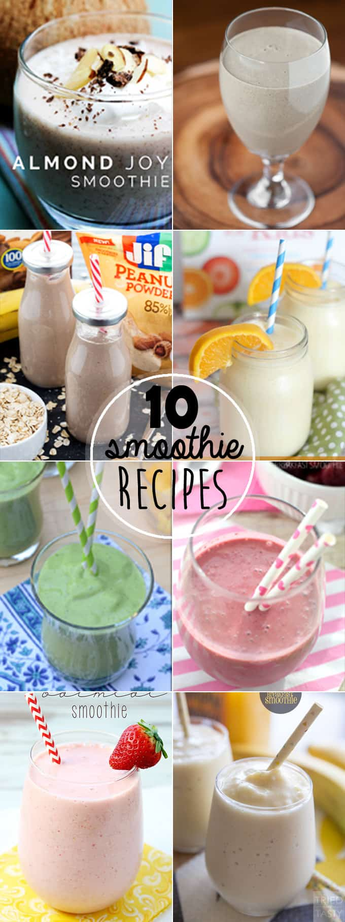 10 Mouth Watering Smoothie Recipes
