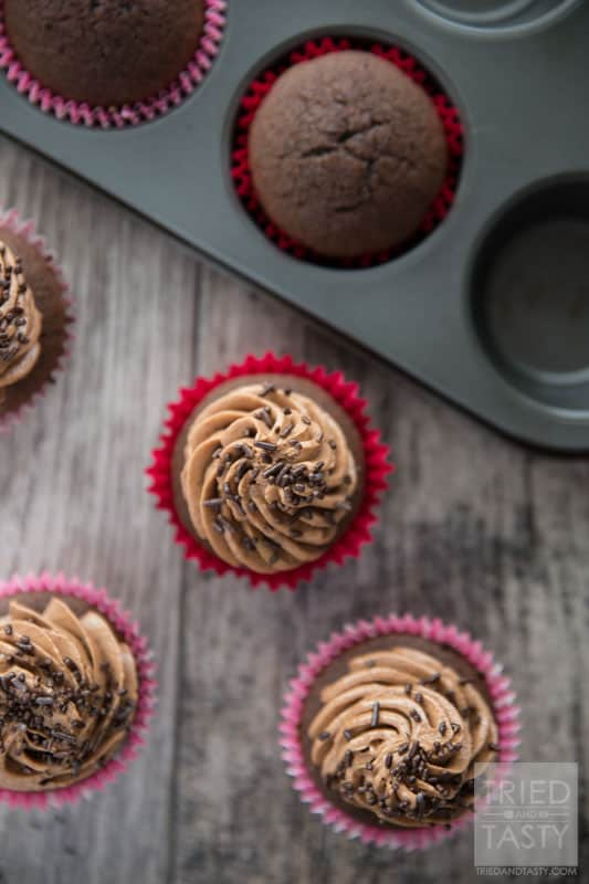 Cocoa Lentil Cupcakes // You may be pleasantly surprised to learn about the secret ingredient in these delicious cupcakes. The UN has declared 2016 as the year of the Pulse. Know what pulses are? Click over to learn more! | Tried and Tasty