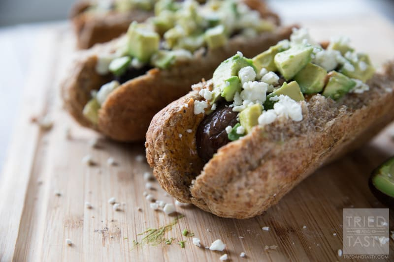 Southwestern Bratwursts // Want a zesty new fun twist on a traditional grilled brat? These Southwestern Bratwursts have the kick of a chipotle mayo but the smooth creamy addition of fresh avocado and sprinkled with a bit of cheese to balance it all. Perfect for your grilling all summer long! | Tried and Tasty