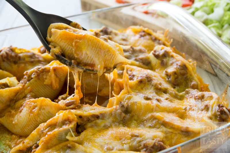 Taco Stuffed Shells - Tried and Tasty