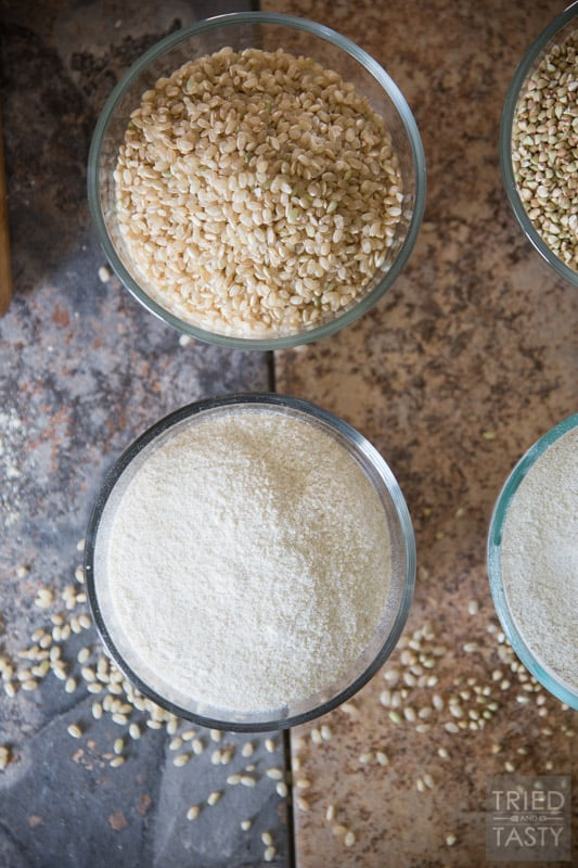 Fresh Milled Flour Made At Home // You've never had flour as fresh as when you've had it milled straight from grain to recipe. Using the NutriMill Harvest Grain Mill you don't have to sacrifice nutrition, instead you can experience satisfaction in knowing you're feeding your body the best of the best! Come see just how easy it is to make your own flour + VIDEO! | Tried and Tasty
