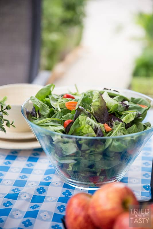 Low Calorie Dijon Dressing // Nothing can make a healthy salad unhealthy faster than the dressing you put on it! This low-cal dijon is exactly what you need if you're looking to maintain taste without sacrificing your nutrition! Especially great on on top of Taylor Farms Snappy Spinach Salad!   Tried and Tasty