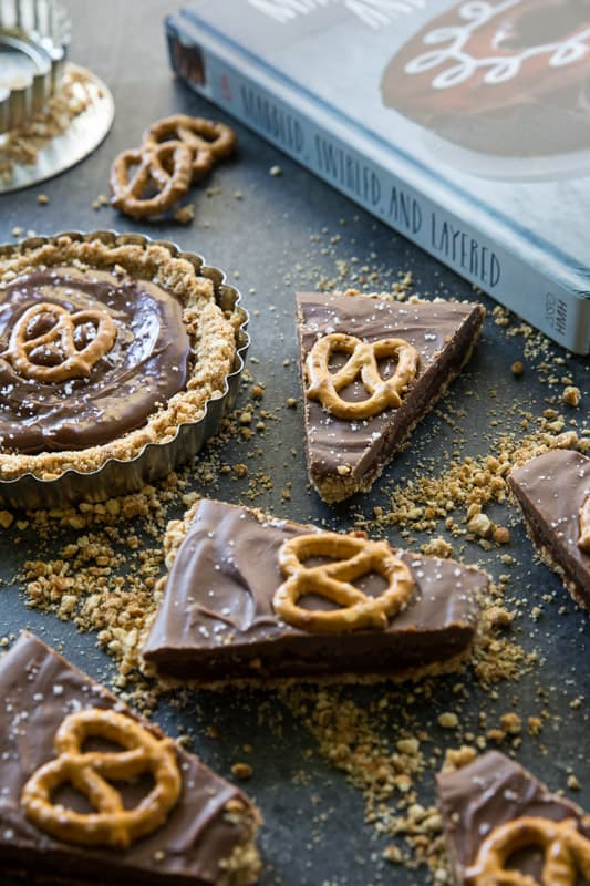 Pretzel, Caramel, and Milk Chocolate Tart // If you like the sweet and ...