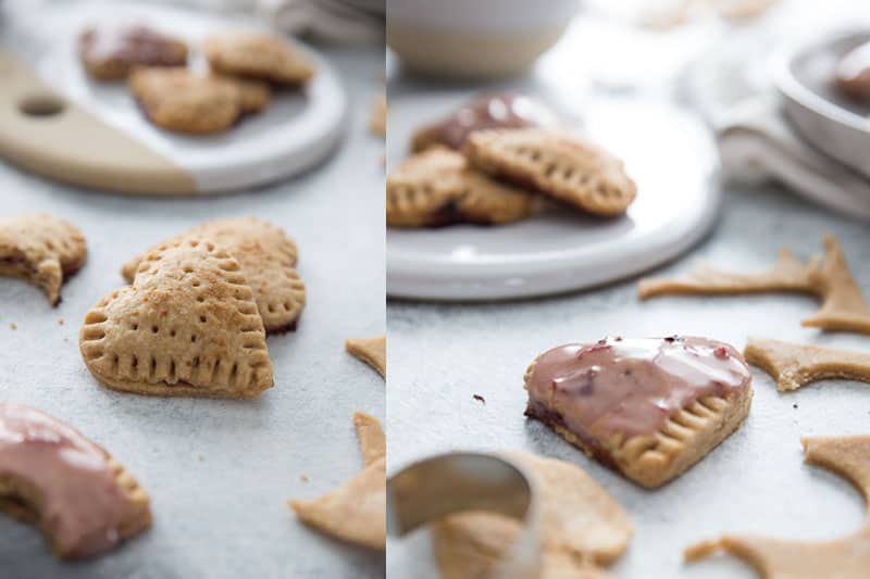 Homemade Sweet Cherry Mini Poptarts // Be still my heart! Have you seen a more adorable Poptart? These mini Poptarts are equally delicious. Made with whole wheat, cherry preserves and a scrumptious cherry glaze (optional)! | Tried and Tasty