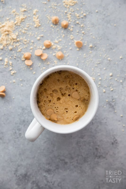 Quick & Easy Mug Cakes: 2 Ways // Do you know how easy mug cakes are? You actually may NOT want to know. Because once you're in on the secret, you're going to want them all.the.time. These two cakes are wonderfully delicious! | Tried and Tasty